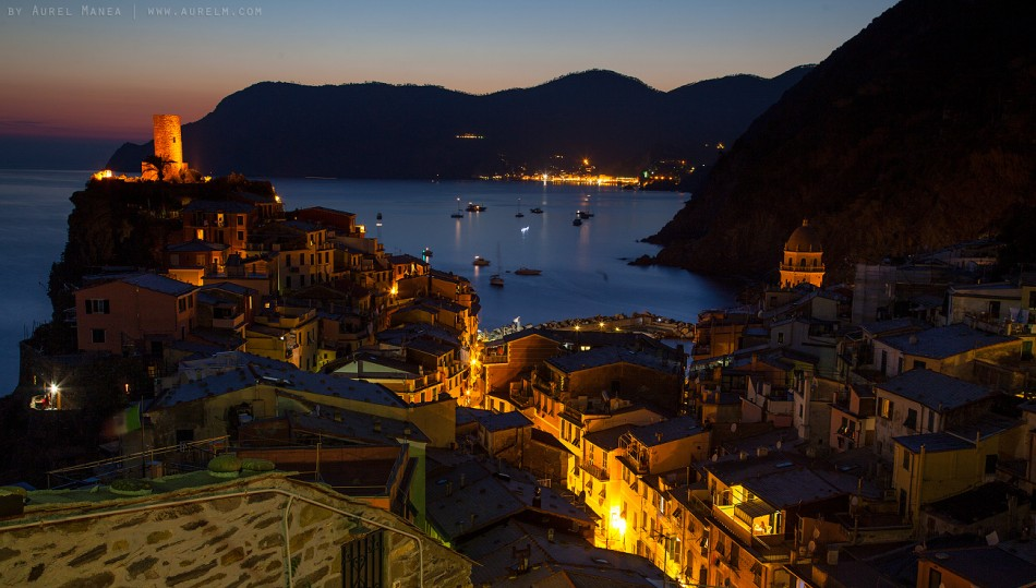 Tuscany sunset sunrise night mediteranian Italy cinque terre