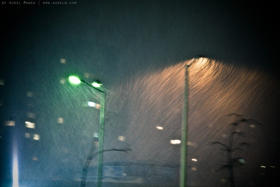 Sofia snow long exposure light Bulgaria blizzard 